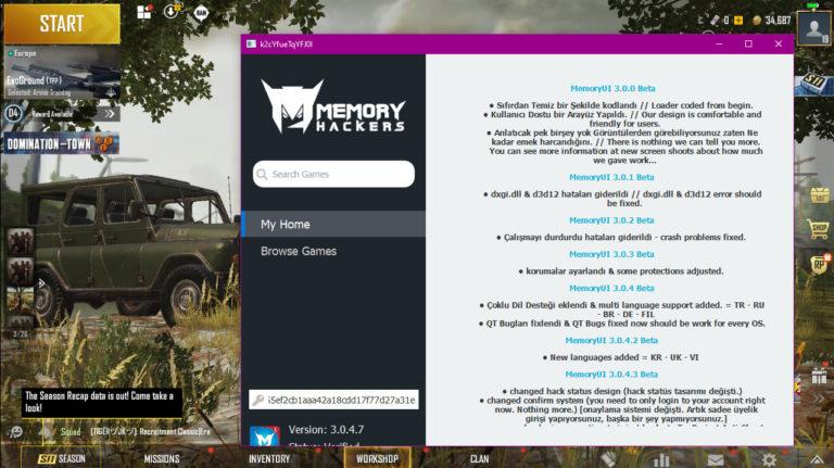 PUBG Hack Download Memory Loader For PC Emulator – Season 11