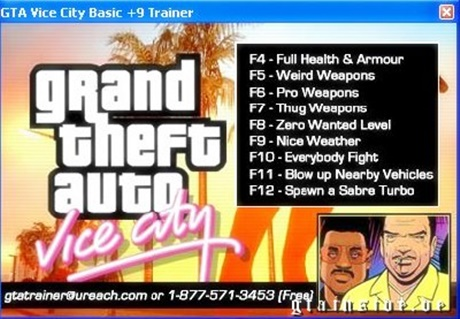 GTA Vice City Trainer Free Download
